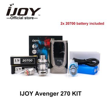New Arrival IJOY AVENGER 270 KIT with 2 20700 battery 234W Box Mod TC  With 4.7ml AVENGER SUBOHM Tank Vaporizer X3 Coil Vape