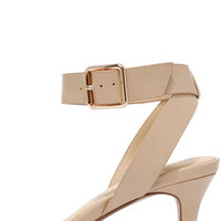 Rendezvous Point Beige Kitten Heels