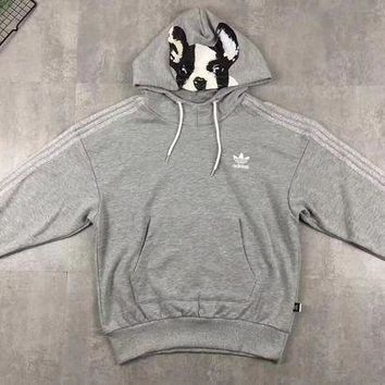 ADIDAS Woman Men Cute Fashion Hoodie Top Sweater Pullover