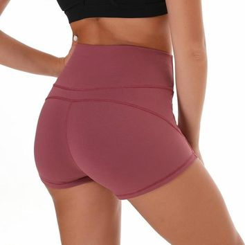 Merlot Red Green & More Women Gym Compression Booty Shorts Spandex Ladies Volleyball Running lycra Athletic