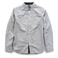 Stussy: Oxford Cities Long Sleeve Button Down Shirt - Black