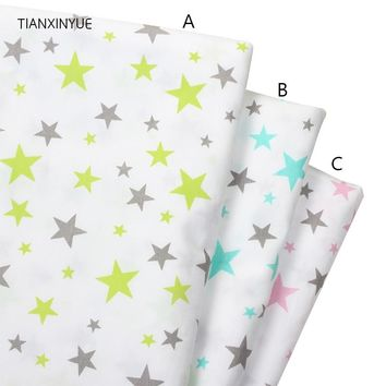 TIANXINYUE Star fabric Cotton Fabric Printed Patchwork Fabric For Tissue Patchwork Telas Sewing Baby Toy Bedding Quilting sheet