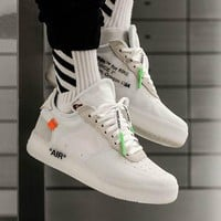 OFF WHITE x Air Force 1 Low Fashion Running Sneakers Sport Shoes