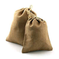 Burlap Favor Bags with Drawstrings, 12-pack, 10-inch x 12-inch