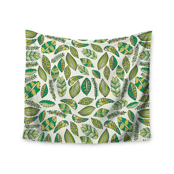 "Pom Graphic Design ""Tropical Botanicals"" Nature Green Wall Tapestry"
