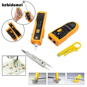 DCCKFS2 New Multi Function Cable Tester Wire Tracker Tracer Network RJ11 RJ45+ Network UTP Cable Cutter Stripper+KRONE Cable Crimper
