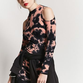 Tie-Dye Ribbed Bodycon Dress