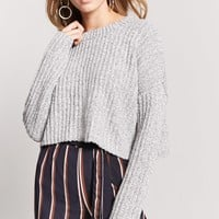 Ribbed Knit Cropped Sweater