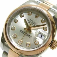 Auth ROLEX Datejust 179161G Silver Pink D267563 Womens Wrist Watch