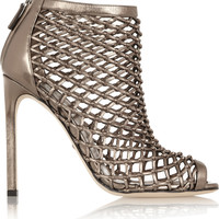 Gucci - Woven metallic leather sandals
