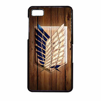 Attack On Titan Legion Logo Wood BlackBerry Z10 Case