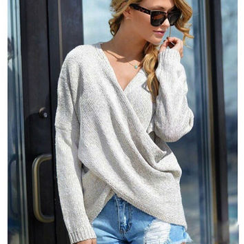 Criss Cross Cozy Sweater