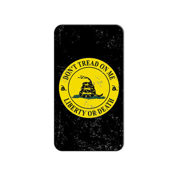 Gadsden - Don't Tread on Me - Liberty or Death - Distressed Circle Lapel Hat Pin Tie Tack