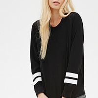 Striped Crepe Sweatshirt