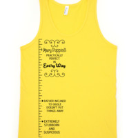 Mary Poppins Measuring Tape Tank Top II