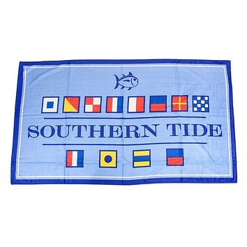 Nautical Flag Beach Towel in Ocean Channel by Southern Tide