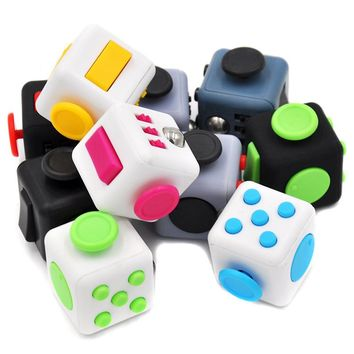 HOT Hand Spinner Fidget Cube With Button Anti Irritability Toy Stress Relief for Adults and Children 12 Fidget Vinyl Desk Toy