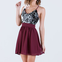 Game Chiffon Sequin Dress