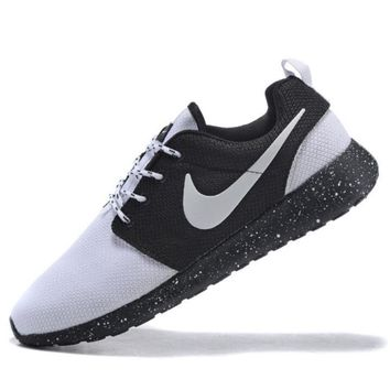 NIKE Women Men Running Sport Casual Shoes Sneakers white toe cap -black starry sky(whi