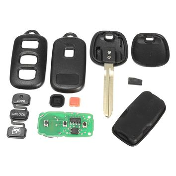 Replacement Keyless Entry Remote Car Key Case FOB Chip For Toyota HYQ12BBX