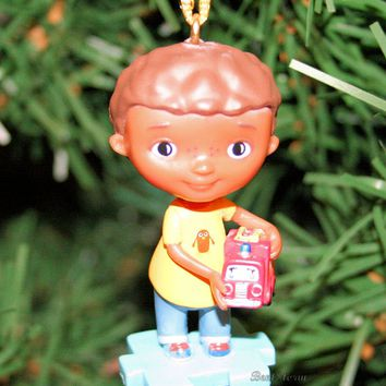 Licensed cool NEW Disney DOC MCSTUFFINS DONNY BOY WITH TRUCK  Custom Christmas Ornament PVC