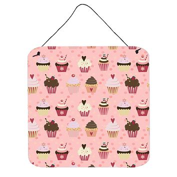 Cupcakes on Pink Wall or Door Hanging Prints BB7280DS66