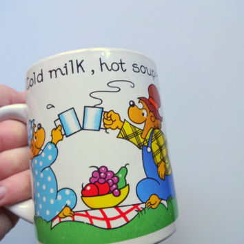 Vintage Berenstain Bears Ceramic Coffee Mug 1987
