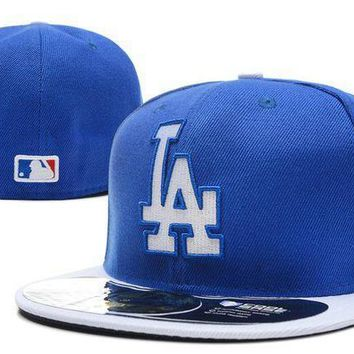 Los Angeles Dodgers New Era Mlb Authentic Collection 59fifty Cap Blue White La