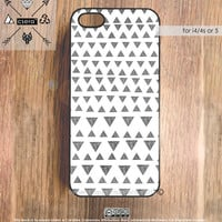 Cute iPhone 4 Case - iPhone 5 Case, Geometric iPhone5 Case, Black White iPhone 4 Case - Soft Rubber Silicone or Hard Plastic iPhone Case