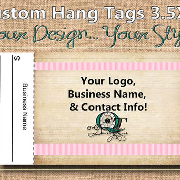 Vintage Print Custom Hang Tag Business Card Style Printing  Matte  3.5 x 2 inch cards Design services  Sales Tags Shop Tags