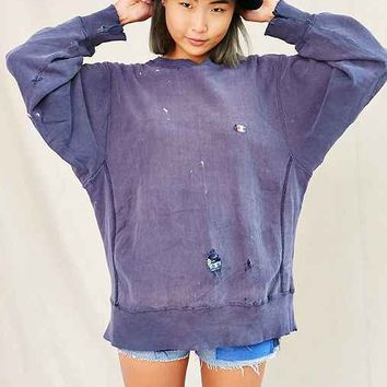 Vintage Blue Champion Sweatshirt from Urban Outfitters