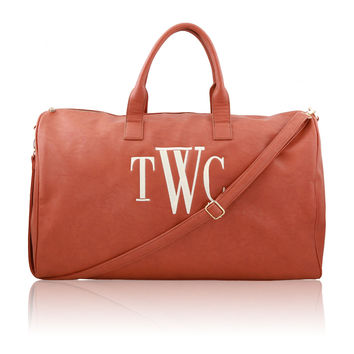Luxe Leather Overnight Bag