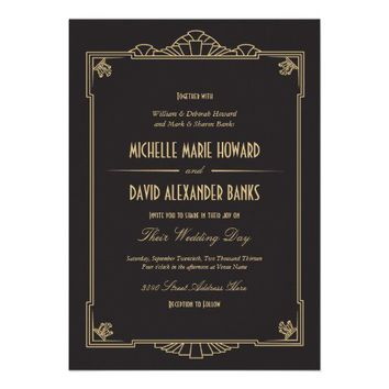 Art Deco Style Wedding Invitation from Zazzle.com