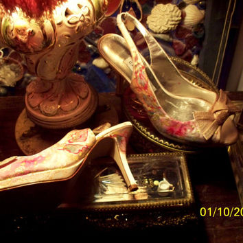Request Custom Hand Painted OOAK Wedding Prom Special Occasion Designer Caparros Artisan Rose Shoes