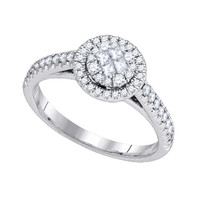 Diamond Monaco Fashion Ring in 14k White Gold 0.51 ctw