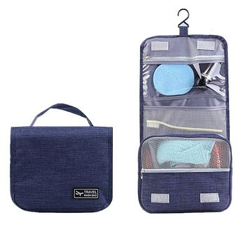 Hanging Necessary Travel Cosmetic Bags Women's Men's Wash Toiletry Makeup Pouch Waterproof Beauticians Organizer Accessories