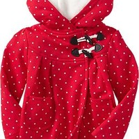 Hooded Toggle-Front Coats for Baby