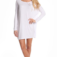 WHITE OVERSIZE TUNIC DRESS (made from Bamboo)