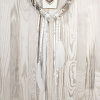 Wedding Decor White Beige Heart  Lace Dreamcatcher Shabby Chic Modern rustic decor wall hanging wall decor shabby home decor