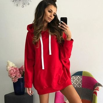 Hoodies Dress Winter Hot Sale Red Long Sleeve Hats [212211466266]