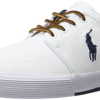 Polo Ralph Lauren Men's Faxon SK VLC Sneaker Pure White 10.5 D(M) US '