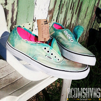 Custom Acid Wash Vans (Cloudy Day)
