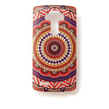 LG G4 Case Cover Mandala Tribal Pattern Soft Plastic LG Back Cover Geometric Rubber Case G4 Aztec L122