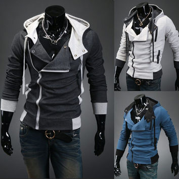 New 2017 Spring & Autumn Fashion Casual Slim Cardigan Assassin Creed Hoodies Sweatshirt Outerwear Jackets Men,Size M-6XL,W20