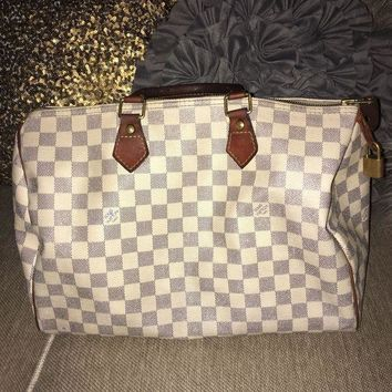 CREYDC0 Authentic louis vuittons handbags speedy 30 azur