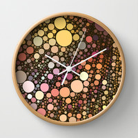 retro blast Wall Clock by Sylvia Cook Photography