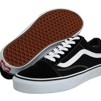 Vans Unisex Old Skool Skate Shoe (5.5 D(M), Black White)