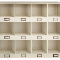 12-Cubby Wall Shelf, Wall Storage & Organization