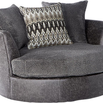Skyline Drive Gray Swivel Chair - Chairs (Gray)