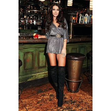 Miss Extra Romper (Silver)